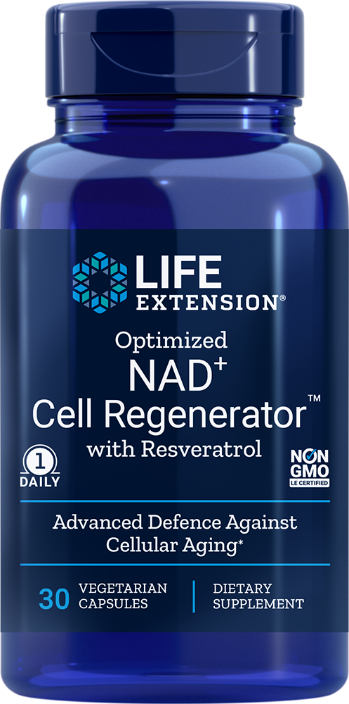 Optimized NAD<sup>+</sup> Cell Regenerator™ with Resveratrol - Get advanced longevity & youthful cellular energy support