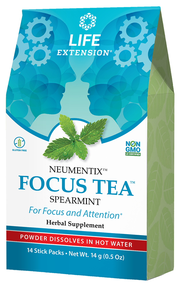 FOCUS TEA™ (Spearmint) - Spearmint herbal tea supplement for focus and concentration
