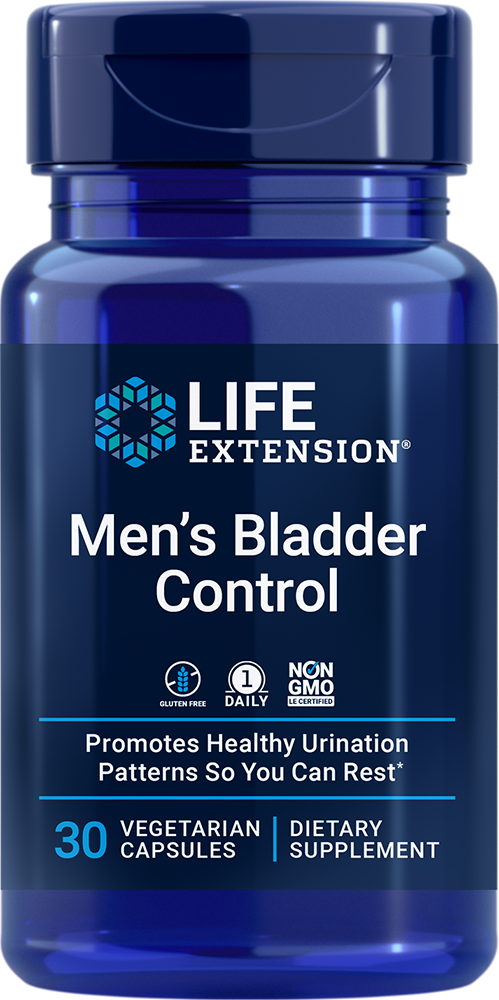 Men's Bladder Control - Promotes healthy nighttime urination patterns for a restful sleep