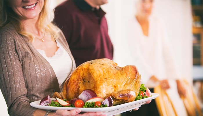 A holiday turkey is a healthier food choice.