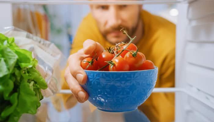 Man choosing a healthy snack