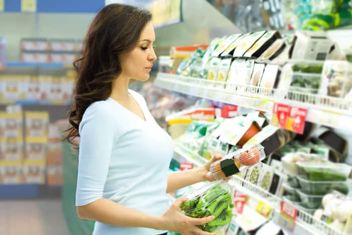 woman choosing nutrient-dense foods