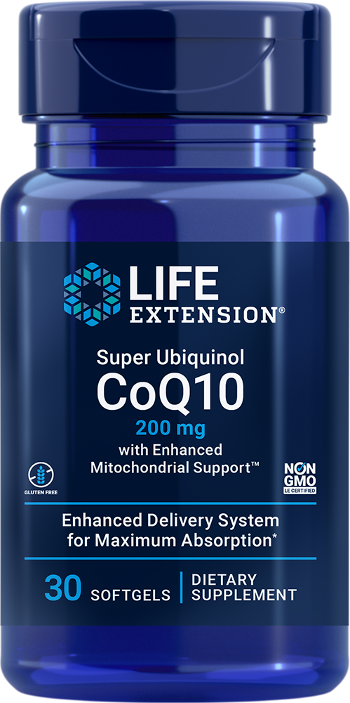 Super Ubiquinol CoQ10 with Enhanced Mitochondrial Support™ - Ultra-absorbable CoQ10 for cell energy, heart health & more