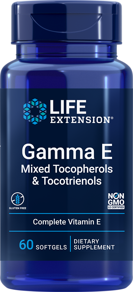 Gamma E Mixed Tocopherols & Tocotrienols - Complete spectrum of vitamin E forms