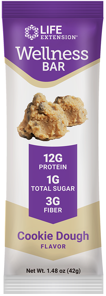 Wellness Bar (Cookie Dough) - A healthy, guilt-free balance of protein, fat, carbs & fiber