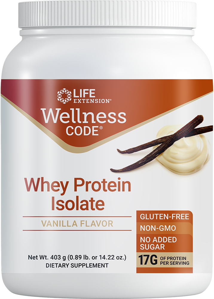 Wellness Code® Whey Protein Isolate (Vanilla) - Supports a healthy immune function