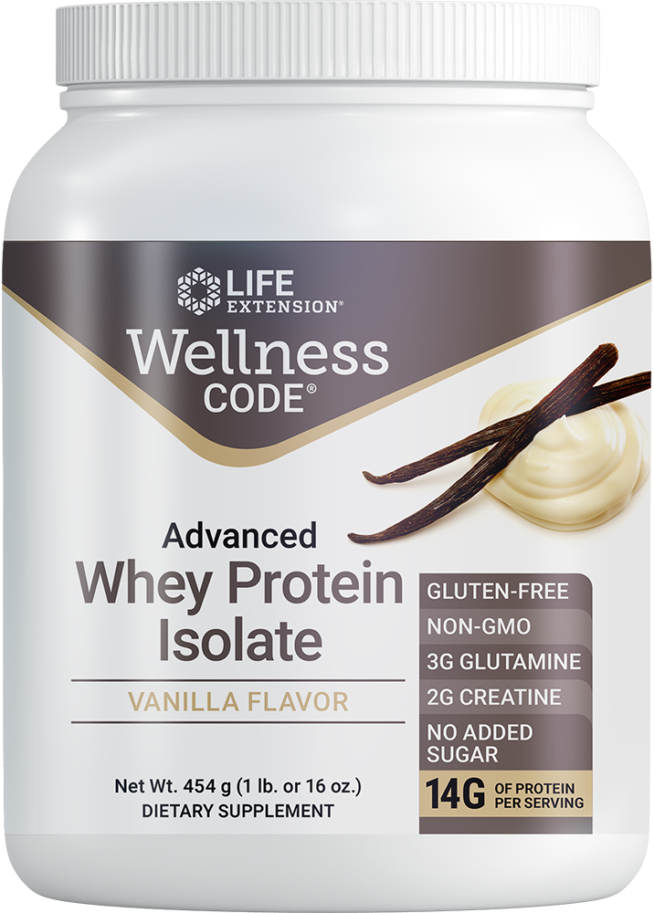 Wellness Code® Advanced Whey Protein Isolate (Vanilla) - Supports a healthy immune function