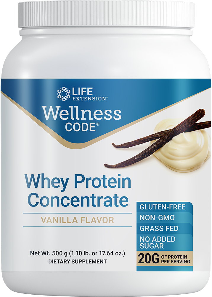 Wellness Code® Whey Protein Concentrate (Vanilla) - Protein for muscle growth & immune health … without hormones