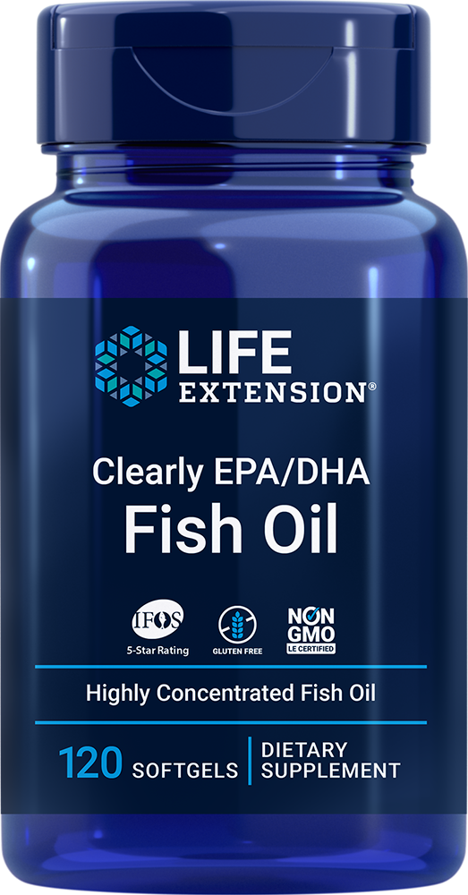 Clearly EPA/DHA Fish Oil - Highly concentrated omega-3 in a smaller, transparent softgel