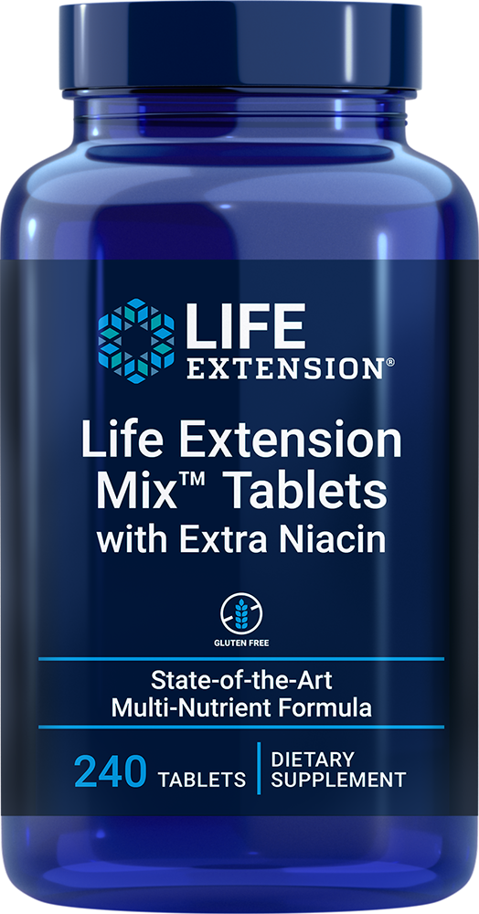 Life Extension Mix™ Tablets with Extra Niacin - State-of-the-art multi-nutrient formula